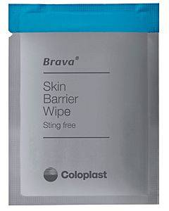 Brava Skin Barrier Wipe, Sting-free, Alcohol-free, Silicone-based Part No. 120215 (30/box)