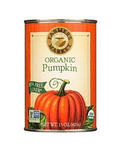 Farmer's Market Organic Pumpkin - Canned - Case Of 12 - 15 Oz.