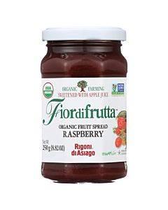 Fiordifrutta Organic Fruit Spread Raspberry - Fruit Spread Raspberry - Case Of 6 - 8.82 Oz.