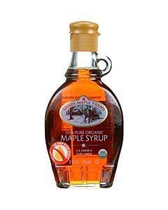 Shady Maple Farms Maple Syrup - Organic - Grade A - Dark - 8.0 Oz - Case Of 12