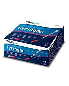 "Trueplus Single-use Insulin Syringe, 31g X 5/16"", 1 Ml (100 Count) Part No. S4h01c31100 (100/box)"
