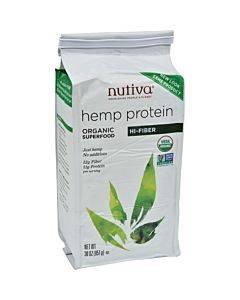Nutiva Organic Hemp Protein Plus Fiber - 30 Oz