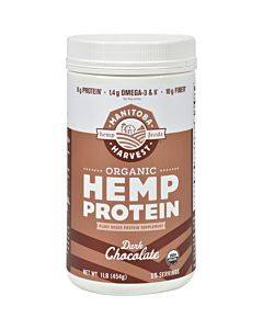 Manitoba Harvest Organic Hemp Protein Dark Chocolate - 16 Oz