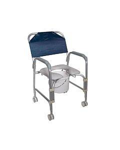 Drive Medical Aluminum Shower Chair/Commode With Casters  Knockdown Part No.11114kd-1