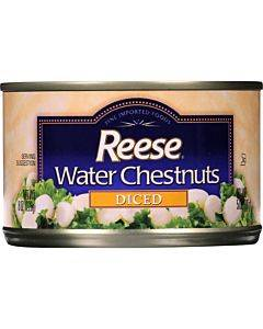 Reese Water Chestnuts - Diced - Case Of 24 - 8 Oz