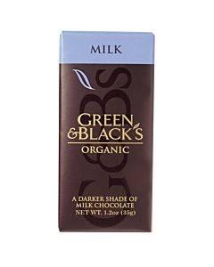 Green And Black's Organic Chocolate Bars - Milk Chocolate - 34 Percent Cacao - Impulse Bars - 1.2 Oz - Case Of 20
