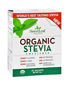 Sweet Leaf Sweetener - Organic - Stevia - 70 Count