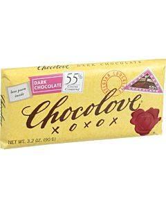 Chocolove Xoxox - Premium Chocolate Bar - Dark Chocolate - Pure - 3.2 Oz Bars - Case Of 12