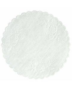 """Rose Linen Round Doilies, 4"""", White, 1000/carton"""