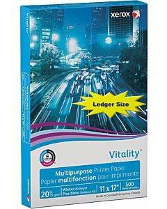 Vitality Multipurpose Print Paper, 92 Bright, 20 Lb, 11 X 17, White, 500/ream
