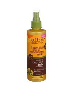 Alba Botanica - Leave In Conditioning Mist - Hawaiian - Drink It Up Coconut Milk - 8 Oz