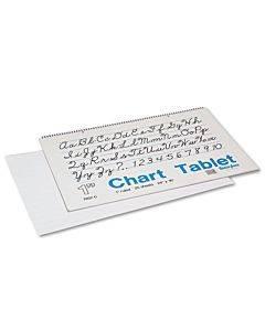 "Chart Tablets, 1"" Presentation Rule, 24 X 16, 25 Sheets"