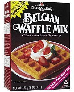 Classique Fare Belgian Waffle Mix - Case Of 6 - 16 Oz.