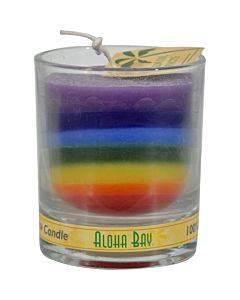 Aloha Bay - Votive Jar Candle - Unscented Rainbow - Case Of 12 - 2.5 Oz