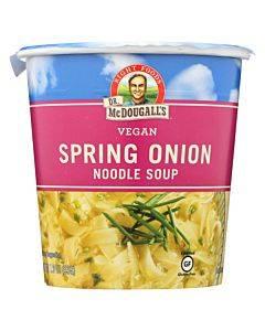 Dr. Mcdougall's Vegan Spring Onion Noodle Soup Big Cup - Case Of 6 - 1.9 Oz.