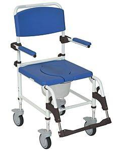 Drive Medical Shower / Commode Rehab Chair Aluminum  W/locking Rear Cstrs Part No.nrs185007