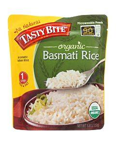 Tasty Bite Rice - Organic - Basmati - 8.8 Oz - Case Of 6