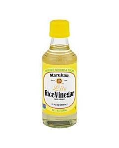 Marukan Rice Vinegar Lite - Seasoned Gourmet - Case Of 6 - 12 Oz.