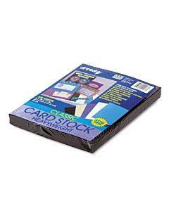 Array Card Stock, 65lb, 8.5 X 11, Black, 100/pack