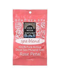 One With Nature Spa Blend Rose Petal Dead Sea Mineral Bath - Salt - Case Of 6 - 2.5 Oz.
