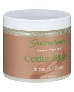 Soothing Touch Herbal Salt Scrub - Cedar Sage - 20 Oz