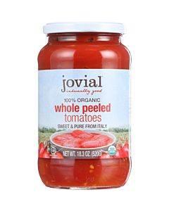 Jovial - Tomatoes - Organic - Whole Peeled - 18.3 Oz - Case Of 6