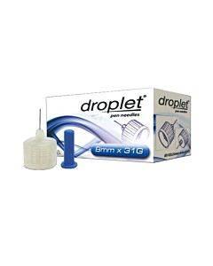 Droplet Pen Needle 31g (0.25mm) X 8mm (100 Count) Part No. 8309 (100/box)