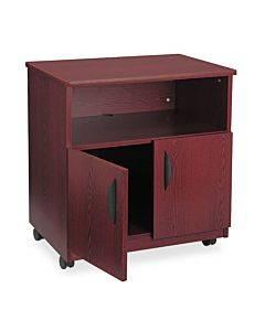 Laminate Machine Stand W/open Compartment, 28w X 19-3/4d X 30-1/2h, Mahogany