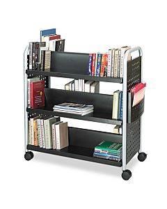 Scoot Book Cart, Six-shelf, 41.25w X 17.75d X 41.25h, Black