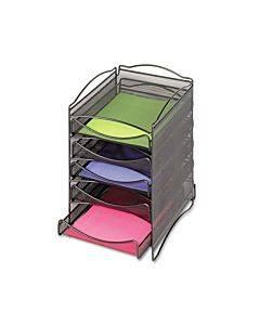 Onyx Stackable Literature Organizer, Five-drawer, Black