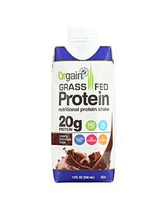 Orgain Organic Protein Shakes - Creamy Chocolate Fudge - Case Of 12 - 11 Fl Oz.