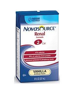 Novasource Renal Nutritional Support Vanilla Flavor Liquid 8 Oz. Brik Pak Part No. 35110000 (1/ea)