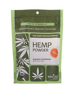 Navitas Naturals Protein Powder - Organic - Hemp - Raw - 12 Oz - Case Of 6