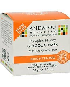 Andalou Naturals Glycolic Brightening Mask Pumpkin Honey - 1.7 Fl Oz