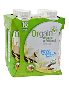 Orgain Organic Nutrition Shake - Vanilla Bean - 11 Fl Oz - Case Of 12