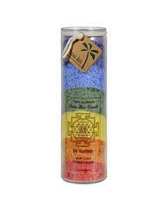 Aloha Bay - Unscented Chakra Jar Rainbow Sri Yantra 7 Color - 1 Candle