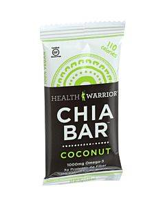 Health Warrior Chia Bar - Coconut - .88 Oz Bars - Case Of 15