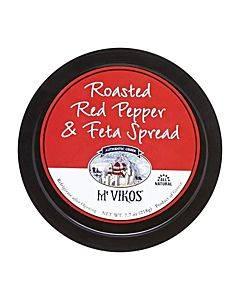 Mt Vikos Spread - Taverna Meze - Red Pepper And Feta - 7.7 Oz - Case Of 6