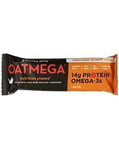 Oatmegabar Protein Bar - Dark Chocolate Peanut - 1.8 Oz Bars - Case Of 12