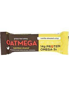 Oatmegabar Protein Bar - Vanilla Almond Crisp - 1.8 Oz Bars - Case Of 12