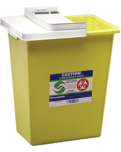 Chemosafety Sharps Container With Hinged Lid 8 Gallon Part No. 8985 (1/ea)