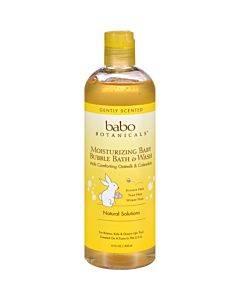 Babo Botanicals - Baby Bubble Bath And Wash - Moisturizing - Oatmilk - 15 Oz