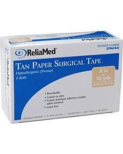 "Cardinal Health Essentials Paper Tape 1/2"" X 10 Yds., Tan Part No. Pa05at (1/ea)"