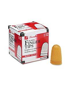 Rubber Finger Tips, 11 1/2 (medium), Amber, Dozen