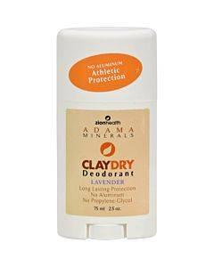 Zion Health Adama Minerals Clay Deodorant Lavender - 2.5 Oz