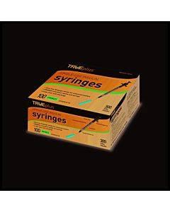 "Trueplus Single-use Insulin Syringe, 30g X 5/16"", .5 Ml (100 Count) Part No. S4h01b30100 (100/box)"