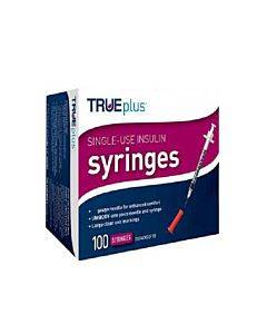 "Trueplus Single-use Insulin Syringe, 31g X 5/16"", .5 Ml (100 Count) Part No. S4h01b31100 (100/box)"