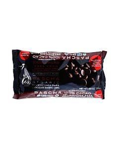 Pascha Chocolate Chips - Dark Unsweetened - Case Of 6 - 8.8 Oz.