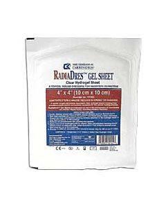 "Radiacare Gel Sheet Dressing 4"" X 4"" Part No. Crr101052 (10/box)"