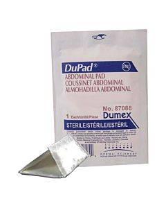"Dupad Sterile Abdominal Pads, Sealed End, 8"" X 7-1/2"" Part No. 87088 (1/ea)"